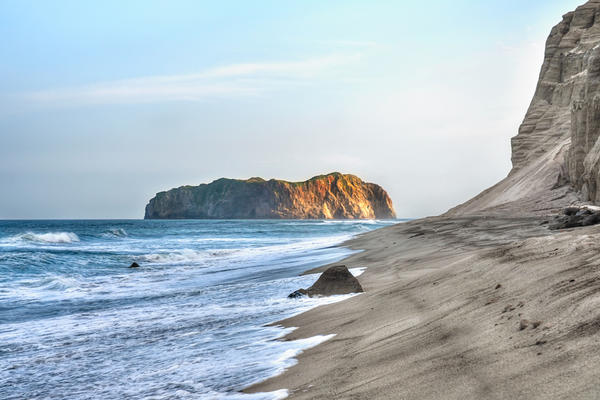 My Lonely Island - Niijima Coast at Sundown
